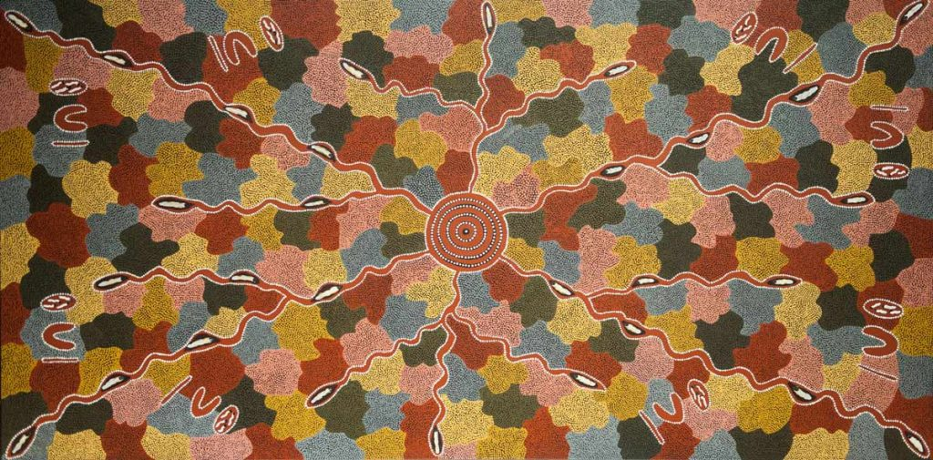 DOREEN REID NAKAMARRA | Australian Aboriginal, 1955 - 2009 | Untitled | Acrylic on canvas | © Doreen Reid Nakamarra and Papunya Tula Artists | 2017.016
