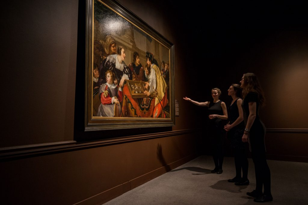 Museum staff member gives tour