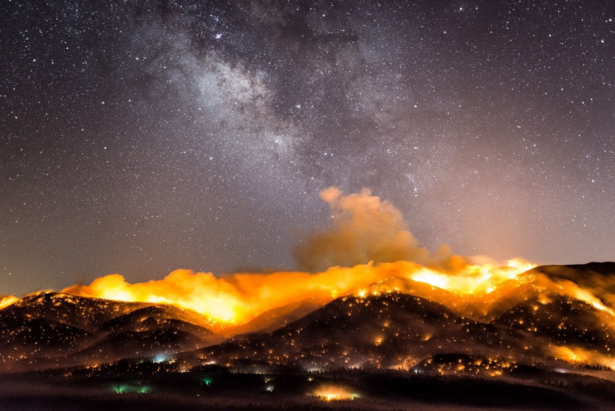 JEFF FROST   American, born 1978   20150620 Lake Fire Milky Way Overlook 35mm d800e-8231.NEF, 2015   Pigment print on Epson Archival Paper   © Artist   Acquired with funds from the Board of Visitors Muscarelle Museum of Art Endowment